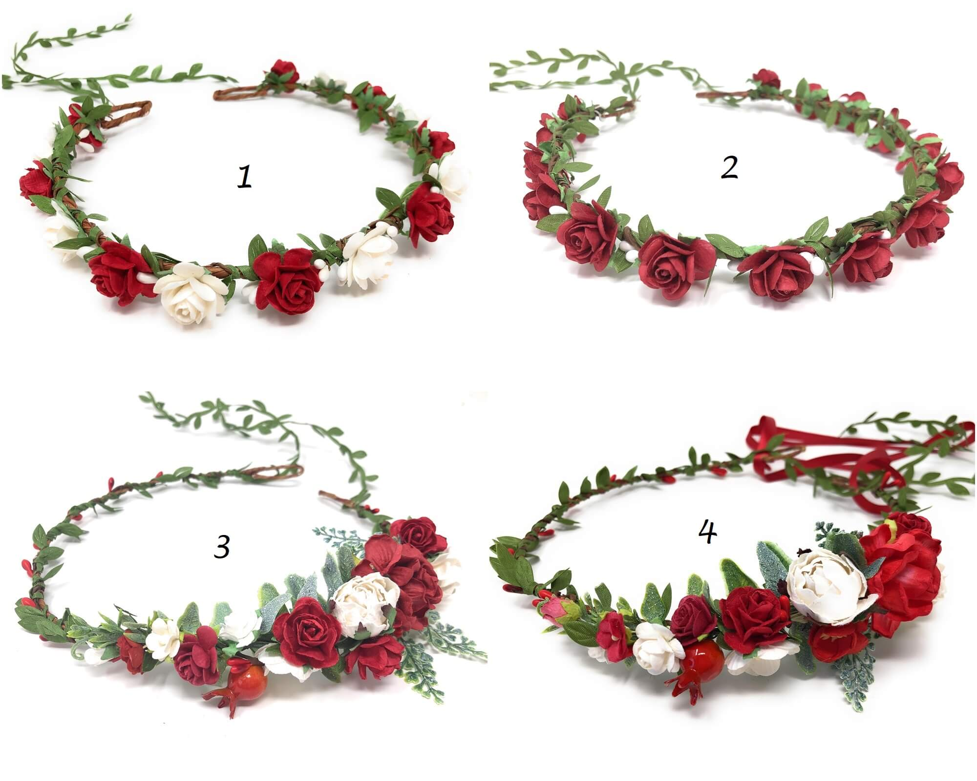 Christmas red flower crown style 3 page 1