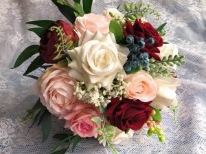 dusty rose flower wedding bouquet